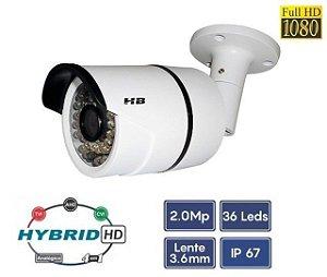 Câmera Bullet 4 Em 1, 1080P 3.6mm 2MP 25 Metros - HB Tech HB409
