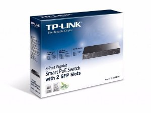 Switch Smart Gigabit PoE de 8 Portas com 2 Slots SFP TL-SG2210P | TP-LINK