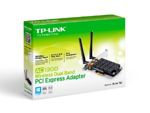 Placa de Rede Wifi PCI Express Wireless Dual Band AC1300 Tp-Link Archer T6E