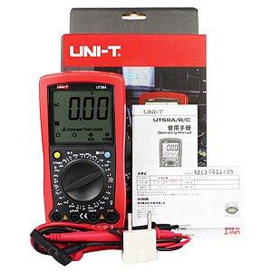 Multímetro Digital Profissional UNI-T UT58B Com Temperatura