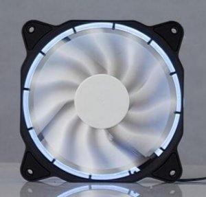 Cooler Fan 120mm Com Led Branco Dx-12f