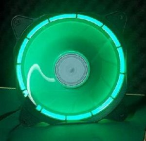Cooler Fan 120mm Com Led Verde Dx-12f
