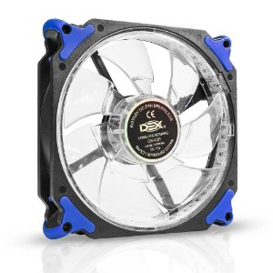 COOLER FAN 120MM C/32 LED EXTRA FORTE DEX DX-12H - AZUL