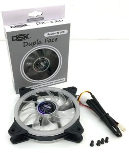Cooler Fan Dupla Face 120mm C/ 30 leds Branca DEX DX-12D