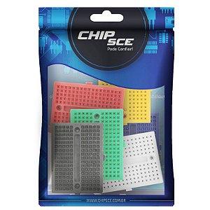 Mini Protoboard 170 Furos 45X34X8,5mm ChipSce - 6 Unidades