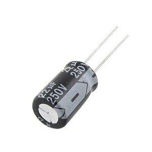 Capacitor Eletrolítico 22uf 250V 105 Graus - 22x250-105