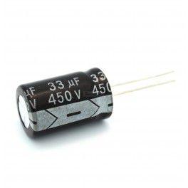 Capacitor Eletrolítico 33uf 450V 105 Graus - 33x450-105