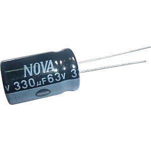Capacitor Eletrolítico 330uf 63V 105 Graus - 330x63-105