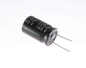 Capacitor Eletrolítico 220uf 160V 105 Graus - 220x160-105