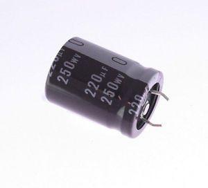 Capacitor Eletrolítico 220uf 250V 105 Graus - 220x250-105