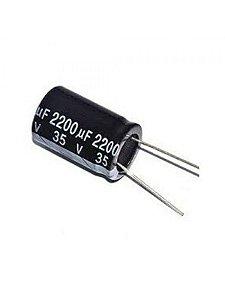 Capacitor Eletrolítico 2200uf 35V 105 Graus - 2200x35-105