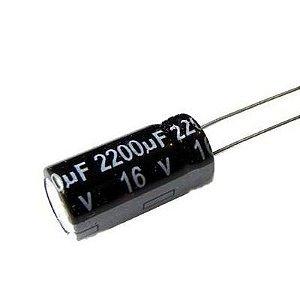 Capacitor Eletrolítico 2200uf 16V 105 Graus - 2200x16-105