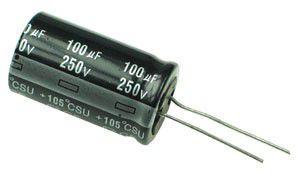 Capacitor Eletrolítico 100uf 250V 105 Graus - 100x250-105