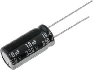 Capacitor Eletrolítico 10uf 350V Bipolar 105 Graus - 10x350-105