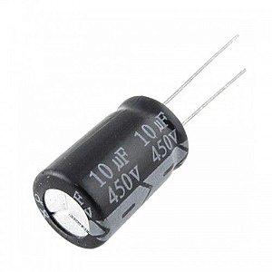 Capacitor Eletrolítico 10uf 450V Bipolar 105 Graus - 10x450-105