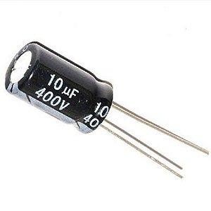 Capacitor Eletrolítico 10uf 400V Bipolar 105 Graus - 10x400-105