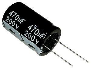 Capacitor Eletrolítico 470uf 200V 105 Graus - 470x200-105