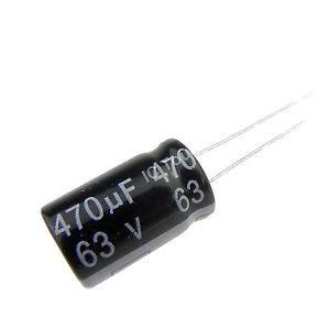 Capacitor Eletrolítico 470uf 63V 105 Graus - 470x63-105