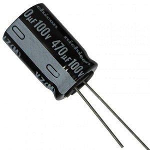 Capacitor Eletrolítico 470uf 100V 105 Graus - 470x100-105