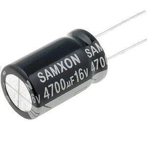 Capacitor Eletrolítico 4700uf 16V 105 Graus - 4700x16-105