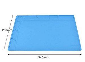 Manta Magnética Antiestática Silicone Azul Yaxun S-120 | 230x340mm
