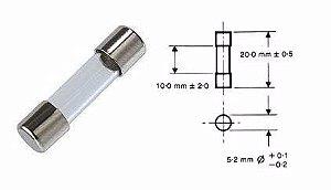Fusível de Vidro Pequeno 2A | 5x20mm