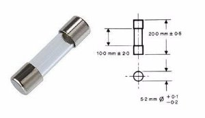 Fusível de Vidro Pequeno 20A | 5x20mm