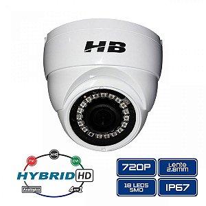 Câmera Dome Metal 4 em 1, 720p 2.8mm Led Smd - HB tech HB-2002