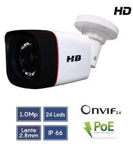 Câmera Bullet Ip, 720p 2.8mm Led Smd Onvif - HB tech HB-901