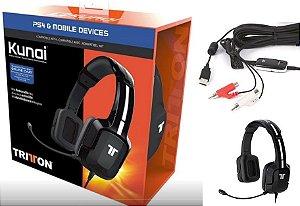 Headset Tritton Kunai Para PS4 e PC Estéreo