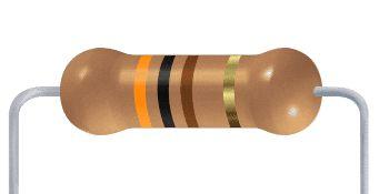 Resistor CF - 300R 5% 1/4W Axial