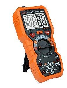 MULTÍMETRO PROFISSIONAL DIGITAL TRUE RMS, AUTO RANGE E NCV - PEAKMETER PM18A