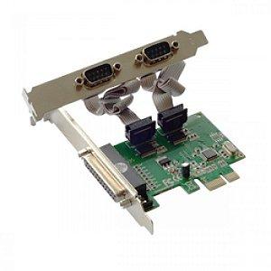 Placa Pci Express 2 Serial Rs232 + 1 Paralela