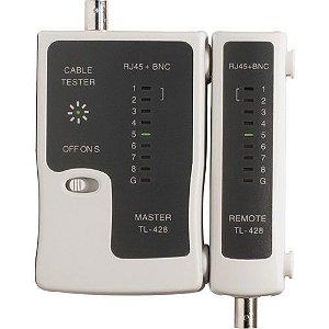Testador De Cabos Rede Lan Rj45 Rj11 E Bnc - 0369
