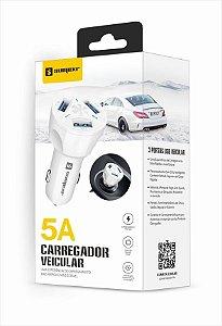 Carregador Veicular Usb 3 Portas 5A - Sumexr SX-C6