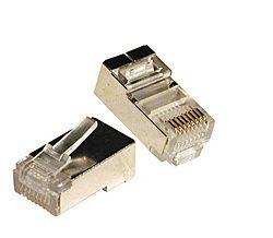 Conector Rj45 Blindado - 50 Unidades