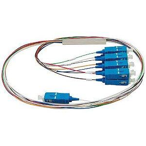 Splitter Conectorizado Balanceado 1x8 Sc/Upc (Azul) - 2Flex