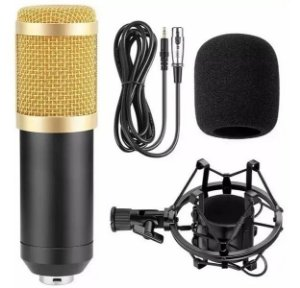 Microfone Estúdio Condensador Bm-800 Profissional