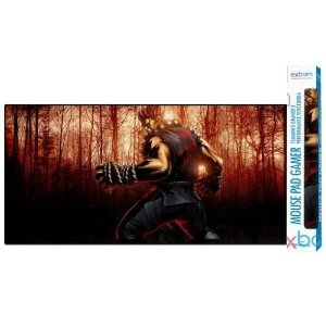 Mouse Pad Gamer Extra Grande Street Fighter Akuma - 90x40x3mm Exbom MP-9040A04