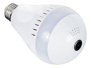 Câmera Lampada Espiã Wifi Panorâmica 360° 1080p Luatek 5620