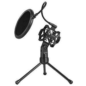 Suporte Tripé De Mesa Com Pop Filter Para Microfone  MT-1024