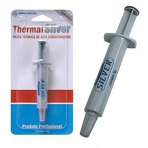 Pasta Térmica Com Prata Implastec Thermal Silver 5g