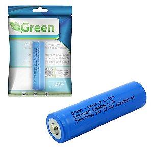 Bateria Recarregavel CR 18650 3.7v 1200mah Li-ion - Green