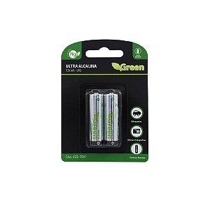Pilha Alcalina AA LR6 Ultra  - Green 022-7001