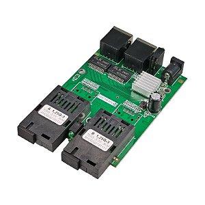 Switch Placa Rede Metro Gigabit 3km 12v - Nexlan RM-2SC2GE