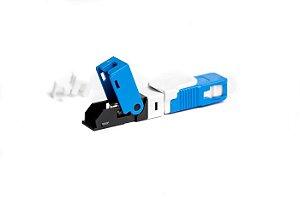 Conector Óptico de Campo SC/UPC (Azul) Tipo Click - 1 Unidade