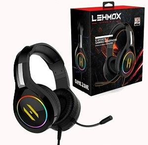 Fone Headset Gamer Led Rgb C/ Mic. Plug 2x P2 - Lehmox GT-F3