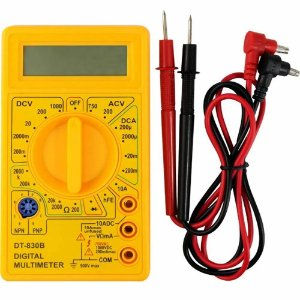 Multímetro Digital Portátil Com Bateria 9V  - Dt-830b