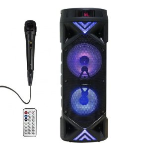 Caixa de Som Bluetooth Portatil Grande 30w Com Leds e Microfone - Avision A1-48