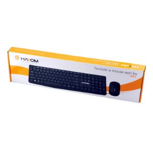 Kit Teclado e Mouse Sem Fio Office - Hayom TC3211